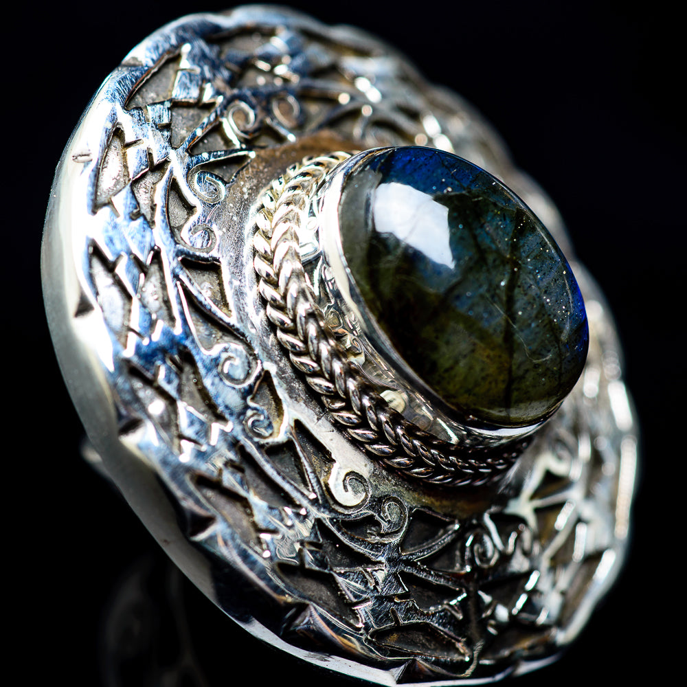 Labradorite Rings handcrafted by Ana Silver Co - RING4114