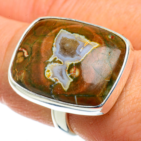 Rainforest Opal Rings handcrafted by Ana Silver Co - RING41176