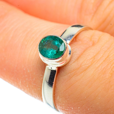 Zambian Emerald Rings handcrafted by Ana Silver Co - RING41194