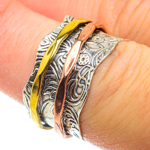 Meditation Spinner Rings handcrafted by Ana Silver Co - RING41243