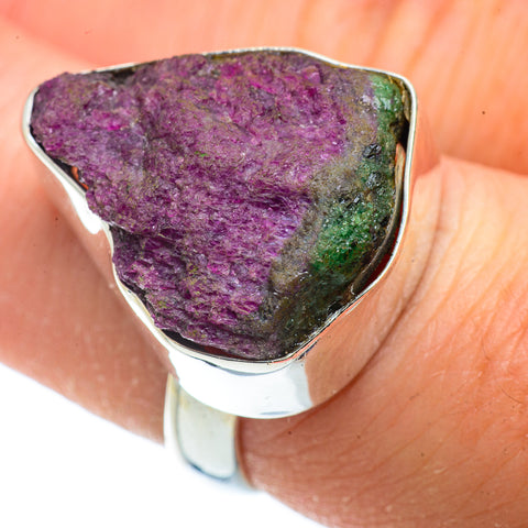 Ruby Zoisite Rings handcrafted by Ana Silver Co - RING41248