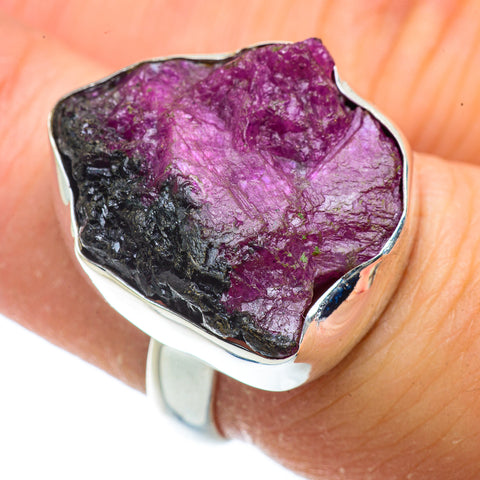 Ruby Zoisite Rings handcrafted by Ana Silver Co - RING41306