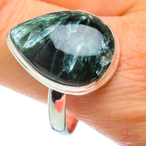 Seraphinite Rings handcrafted by Ana Silver Co - RING41329