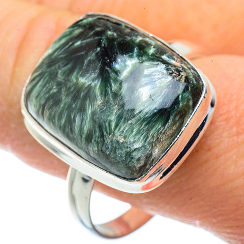 Seraphinite Rings handcrafted by Ana Silver Co - RING41406
