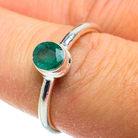 Zambian Emerald Rings handcrafted by Ana Silver Co - RING41407
