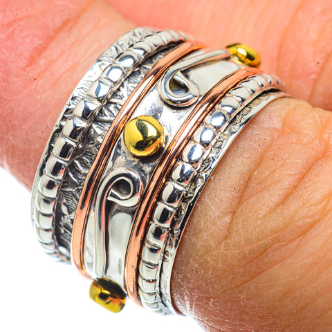 Meditation Spinner Rings handcrafted by Ana Silver Co - RING41475