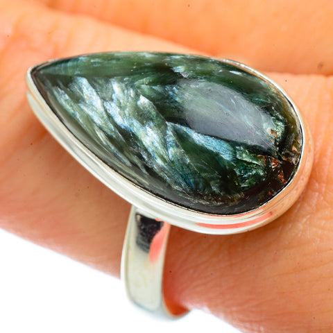 Seraphinite Rings handcrafted by Ana Silver Co - RING41591