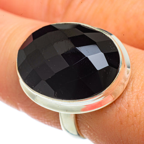 Black Onyx Rings handcrafted by Ana Silver Co - RING41604