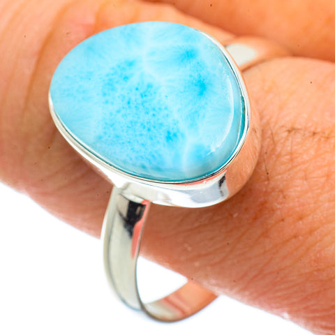 Larimar Rings handcrafted by Ana Silver Co - RING41718