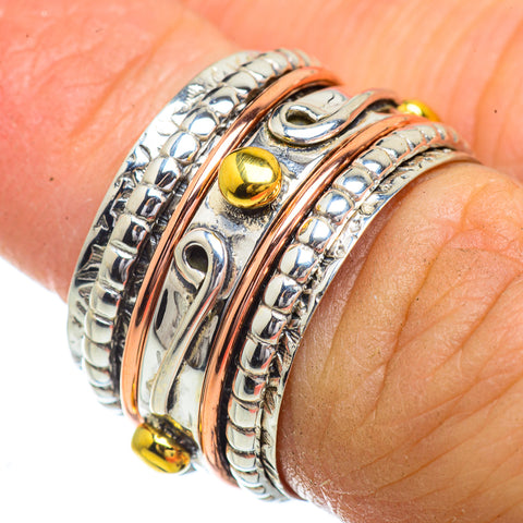 Meditation Spinner Rings handcrafted by Ana Silver Co - RING41773