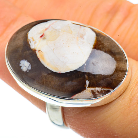 Peanut Wood Jasper Rings handcrafted by Ana Silver Co - RING41887