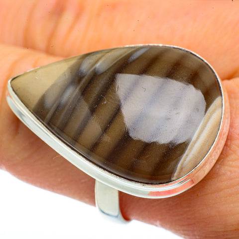 Striped Flint Rings handcrafted by Ana Silver Co - RING41895