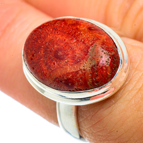 Sponge Coral Rings handcrafted by Ana Silver Co - RING42102