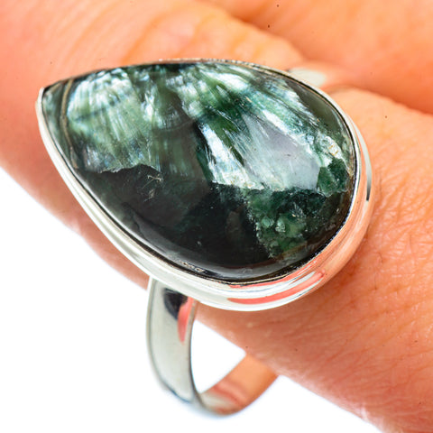 Seraphinite Rings handcrafted by Ana Silver Co - RING42133