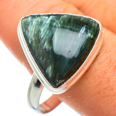 Seraphinite Rings handcrafted by Ana Silver Co - RING42162