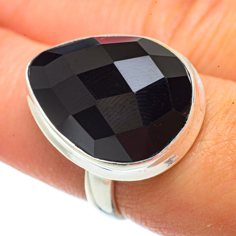 Black Onyx Rings handcrafted by Ana Silver Co - RING42203
