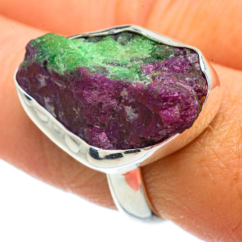 Ruby Zoisite Rings handcrafted by Ana Silver Co - RING42208