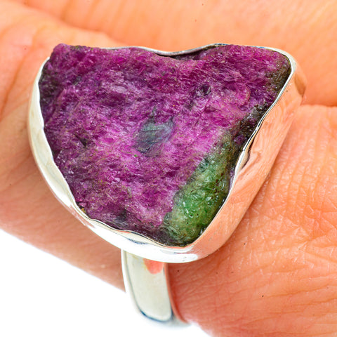 Ruby Zoisite Rings handcrafted by Ana Silver Co - RING42259