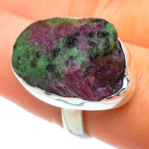 Ruby Zoisite Rings handcrafted by Ana Silver Co - RING42268