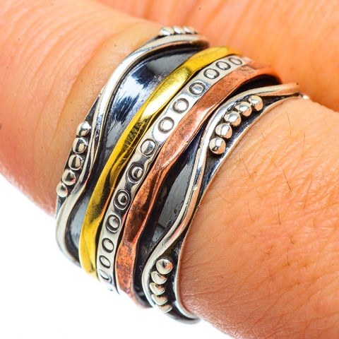 Meditation Spinner Rings handcrafted by Ana Silver Co - RING42293