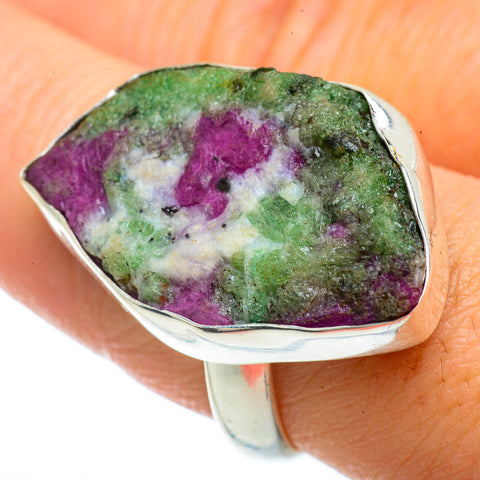 Ruby Zoisite Rings handcrafted by Ana Silver Co - RING42339
