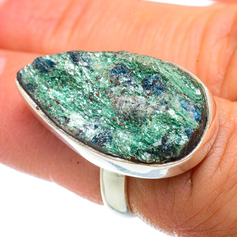 Green Fuchsite Crystal Rings handcrafted by Ana Silver Co - RING42341