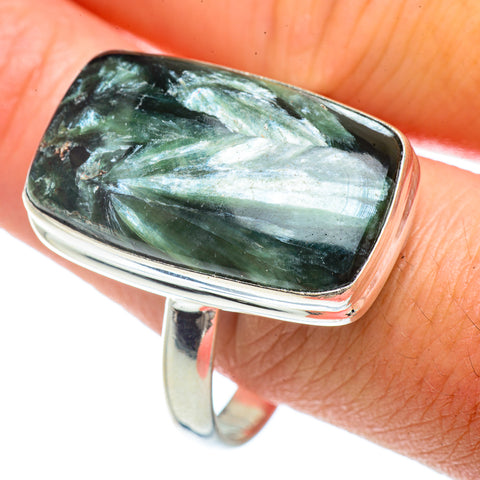 Seraphinite Rings handcrafted by Ana Silver Co - RING42343