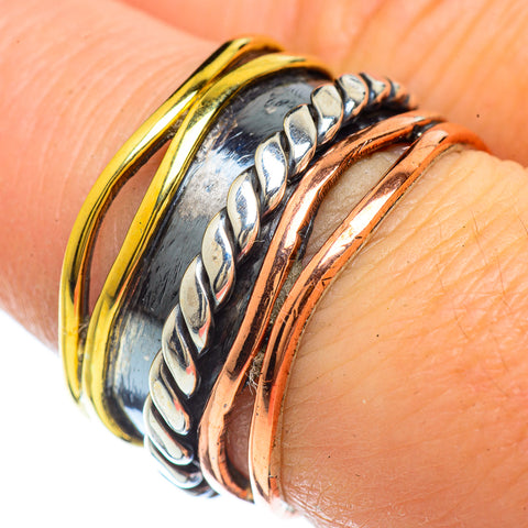 Meditation Spinner Rings handcrafted by Ana Silver Co - RING42508