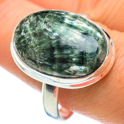 Seraphinite Rings handcrafted by Ana Silver Co - RING42556