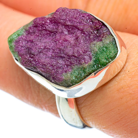 Ruby Zoisite Rings handcrafted by Ana Silver Co - RING42647