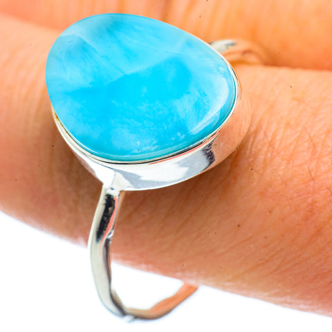 Larimar Rings handcrafted by Ana Silver Co - RING42674
