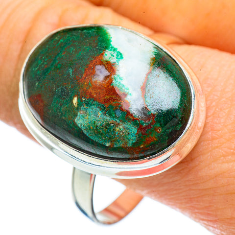 Chrysocolla Rings handcrafted by Ana Silver Co - RING42692