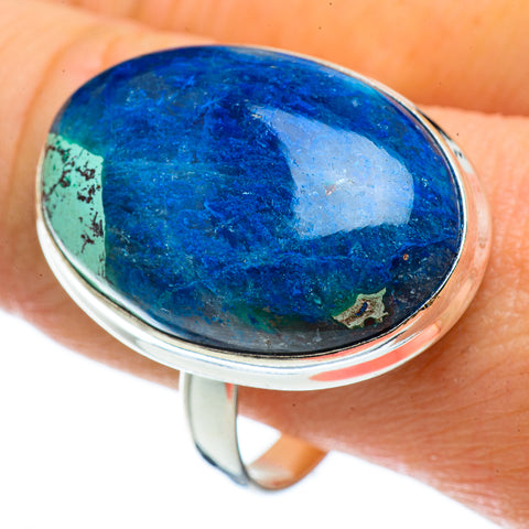 Chrysocolla In Quartz Rings handcrafted by Ana Silver Co - RING42892