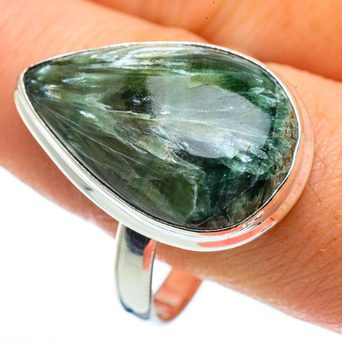Seraphinite Rings handcrafted by Ana Silver Co - RING42897