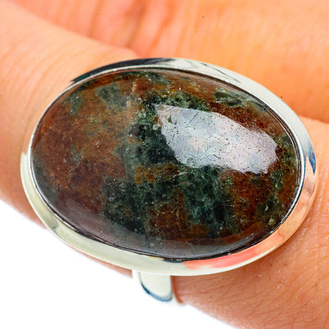 Russian Eudialyte Rings handcrafted by Ana Silver Co - RING42918