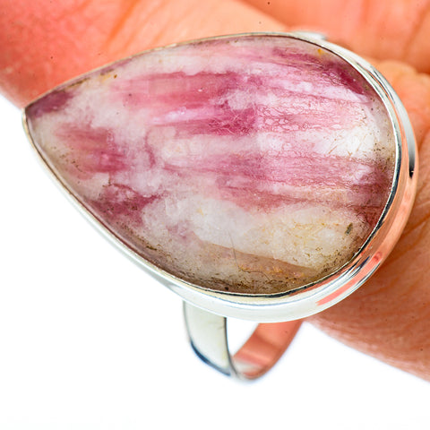 Pink Tourmaline In Quartz Rings handcrafted by Ana Silver Co - RING43009