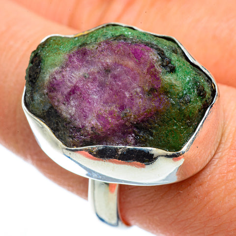 Ruby Zoisite Rings handcrafted by Ana Silver Co - RING43016