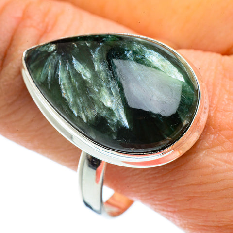 Seraphinite Rings handcrafted by Ana Silver Co - RING43021