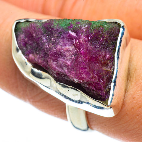 Ruby Zoisite Rings handcrafted by Ana Silver Co - RING43047