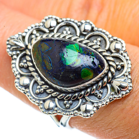Azurite Rings handcrafted by Ana Silver Co - RING43141