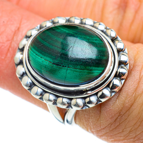 Malachite Rings handcrafted by Ana Silver Co - RING43203