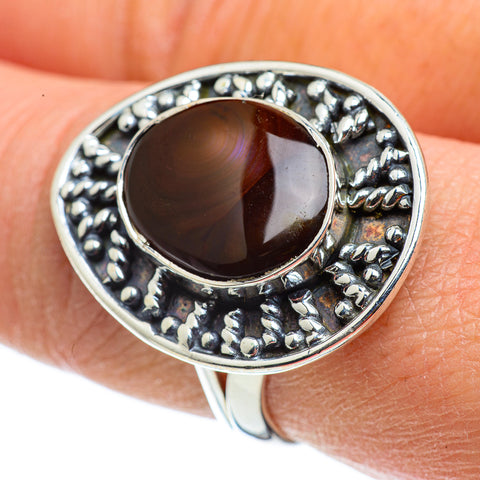 Mexican Fire Agate Rings handcrafted by Ana Silver Co - RING43207