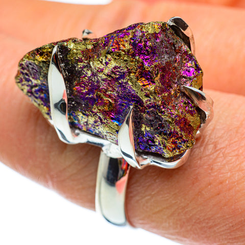 Titanium Druzy Rings handcrafted by Ana Silver Co - RING43212