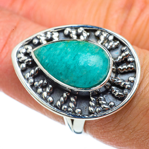 Amazonite Rings handcrafted by Ana Silver Co - RING43274