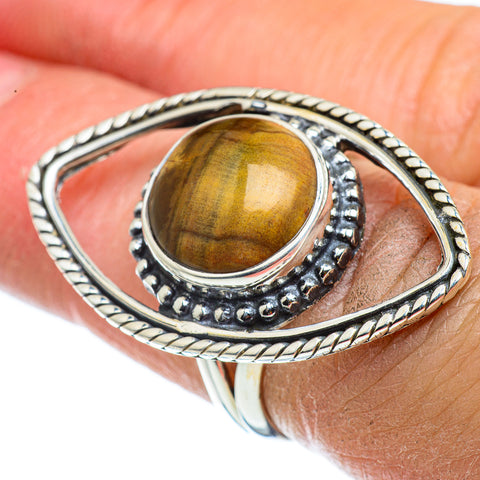 Tiger Eye Rings handcrafted by Ana Silver Co - RING43322