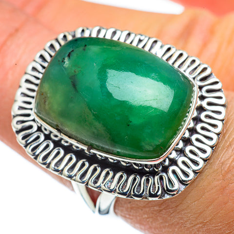 Chrysoprase Rings handcrafted by Ana Silver Co - RING43349