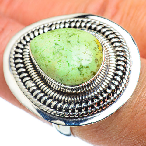 Lemon Chrysoprase Rings handcrafted by Ana Silver Co - RING43350