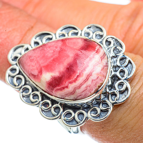 Rhodochrosite Rings handcrafted by Ana Silver Co - RING43362