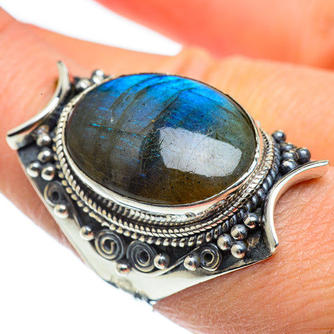 Labradorite Rings handcrafted by Ana Silver Co - RING43389