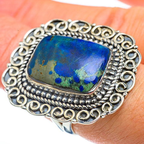 Azurite Rings handcrafted by Ana Silver Co - RING43418